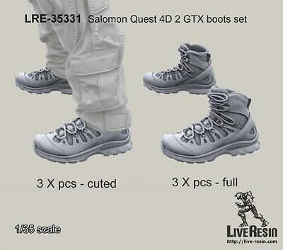 AU15.50 • Buy Live Resin 1/35 Salomon Quest 4D 2 GTX Boots Set (3 X Cut, 3 X Full)