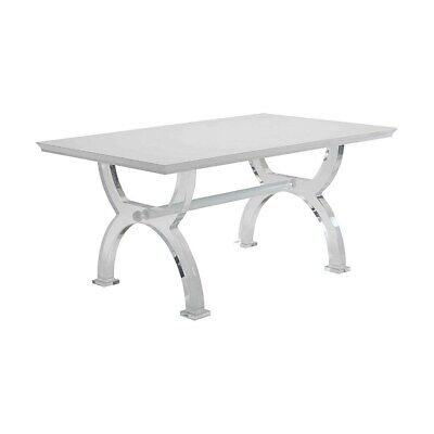 $2447.99 • Buy Modern Style Rectangular Wooden And Acrylic Dining Table, Wood Finish