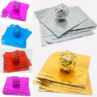 CHOCOLATE FOIL WRAPPERS 8CM X 8CM SQUARE 100 SHEETS UK HIGH QUALITY FAST POSTAGE • 3.49£