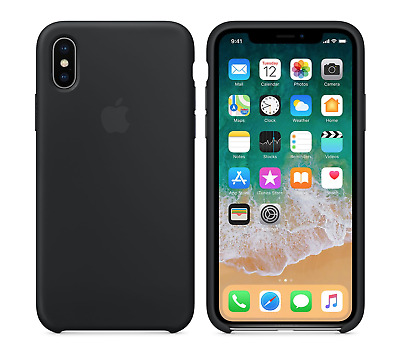 AU12.69 • Buy BLACK  Apple Silicone Case NEW IPhone X RRP $39