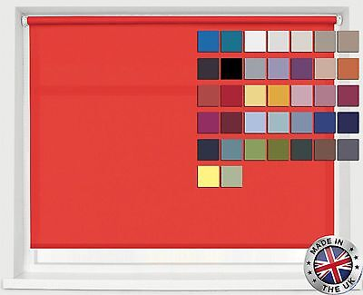 Roller Blinds • Straight Edge • Custom Hand Made To Order • 37 Colours Available • 31.75£