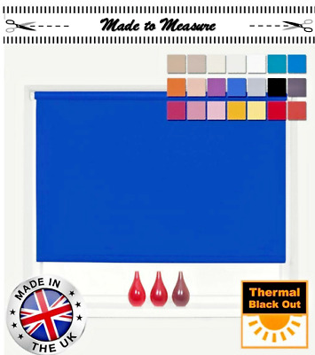 £14.95 • Buy Made To Measure Blackout Roller Blinds • 100% Thermal • Custom Made To Size