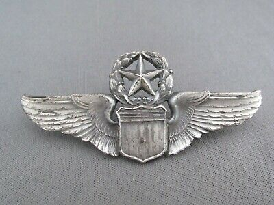 Vintage Military Sterling Wwii Army Airforce Expert Master Pilot Wings Pin • 8.50$
