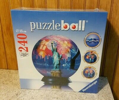 Puzzle Ball New York City Statue Of Liberty Ravensburger 240 Pieces - Brand New • 26.99$