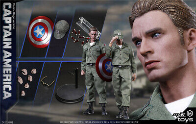 $ CDN244.63 • Buy 1/6 Captain America Steve Rogers Endgame Figure USA Toys Hot Avengers Peggy
