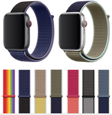 $ CDN8.99 • Buy Soft Woven Nylon Wrist Watch Band Strap For Apple Watch Series 5 4 3 2 1 42/44