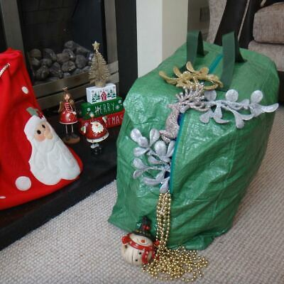 Christmas Tree Decorations  Storage Bag Lights Baubles Large Zip Up Sack Xmas • 5.99£
