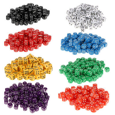 AU18.57 • Buy 100pcs Acrylic Six Sided Spot Dice D6 Round Corner For Dungeons & Dragons Toys
