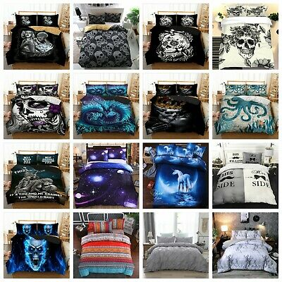 Duvet Cover Bedding Set With Pillow Cases Quilt Cover Single Double King Sizes • 26.59£