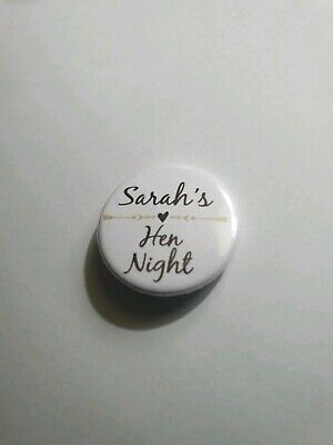 £3.95 • Buy 16 X Hen Party Night Named Custom Personalised Badges 25mm 1 INCH Bridesmaid