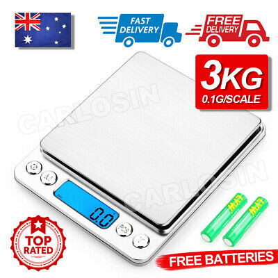 AU18.80 • Buy 3kg/0.1g Kitchen Digital Scale LCD Electronic Balance Food Weight Postal Scales