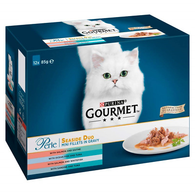 Gourmet Perle Cat Food Seaside Duo, 12 X 85 G - Pack Of 4 • 38.14£