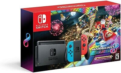 $599.99 • Buy Brand New Nintendo Switch Bundle With Mario Kart 8 Deluxe - Neon Red/Blue