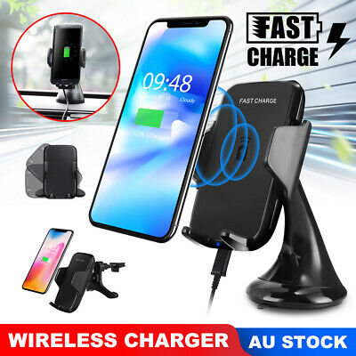 AU23.85 • Buy Qi Wireless Car Charger Magnetic Phone Stand Holder For IPhone 11 Samsung S9 S10