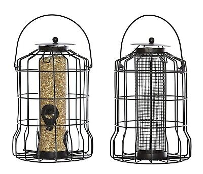 Squirrel Proof Resistant Wild Garden Bird Guard Cage Seed And Peanut Feeders • 10.99£