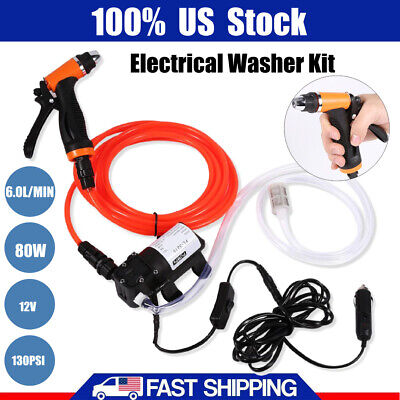 12V High Pressure Self-priming Quick Cleaning Water Pump Electrical Washer Kit • 23.99$