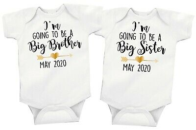 Im Going To Be A Big Brother/Sister Baby Girl Boy Vest/grow Free P&P • 5.99£