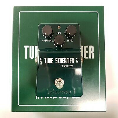 Ibanez TS808HW Handwired Tube Screamer Overdrive Distortion Guitar Effects Pedal • 238.67$