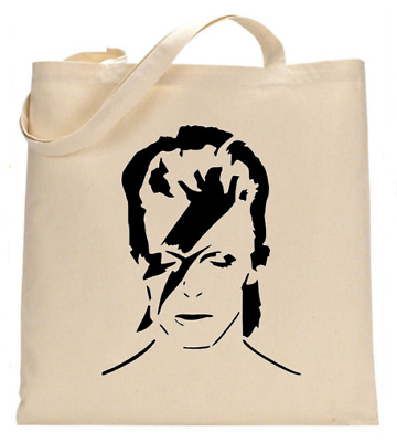 £6.49 • Buy Shopper Tote Bag Cotton Canvas Cool Icon Stars David Bowie Ideal Gift Present