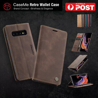 AU12.99 • Buy Samsung Galaxy S8 S9 S10 Plus Magnetic Wallet Leather Case Flip Card Slots Cover