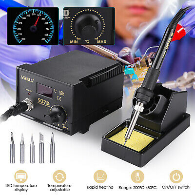 45W Soldering Iron Station Hot Air Digital Welding SMD Tool Stand W/5 Tips 937D • 25.99£