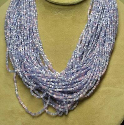 Joan Rivers Gold Plated Lavender Seed Bead Torsade 36  Necklace New In Box • 33.74$