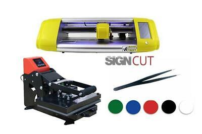 £729.99 • Buy Vinyl Cutter And Heat Press T-Shirt And Signmaking Beginner Starter Package