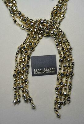 Joan Rivers Gold Faceted Bead 4 Strand Lariat Necklace 52  Long New • 9.99$
