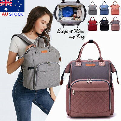 AU33.99 • Buy 🔥New LEQUEEN Large Mummy Maternity Nappy Diaper Bag Baby Tote Travel Backpack