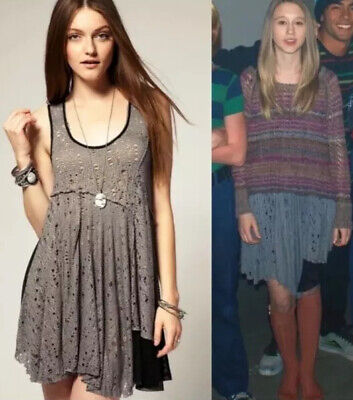 $ CDN159.06 • Buy Free People Luscious Lagoon Gray Lace Slip Dress L ASO Violet Harmon AHS Rare