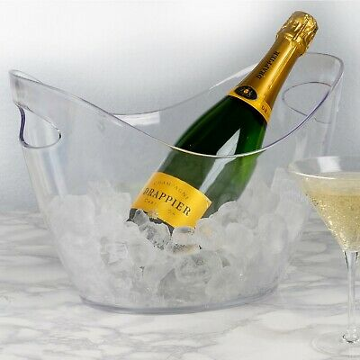 Large Oval  Plastic Ice Bucket Champagne Beer Wine Drinks Ice Cube Bowl Cooler  • 11.75£