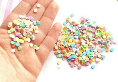 10g Round Disc Sprinkles For Whipped Cream Glue , Decoden, SLIME Supplies • 2.99£