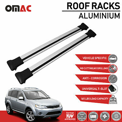 AU124.06 • Buy Roof Rack Cross Bars Luggage Carrier Silver For Mitsubishi Outlander 2008-2013