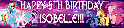 Personalised My Little Pony Birthday Banners - Toys, Cards, Calendars Posters • 3.50£