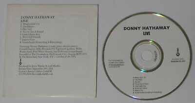 Donny Hathaway - Live - 2001 U.S. Promo Cd, Card Cover • 4.87£