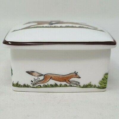 Wedgwood Hunting Scene 2.5 Inch Square Trinket Box And Lid Coalport Crown • 19.99£