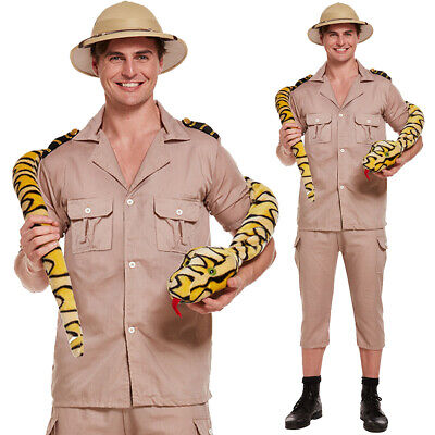 New Adult Safari Explorer Costume Mens Fancy Dress Jungle Zoo Keeper Outfit • 16.99£