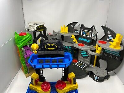 3 Fisher-Price Imaginext DC Super Friends Bat Cave Toy Playsets Only Lot Works • 17.88£