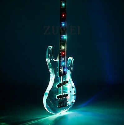 $ CDN471.22 • Buy 5 Strings Electric Bass Guitar Colorful Led Light Flash Style Acrylic Crystal