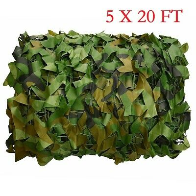 $20.56 • Buy 5x20FT Woodland Leaves Camouflage Camo Army Net Netting Camping Military Hunting