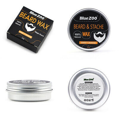 Blue ZOO Natural Beard Balm Organic Conditioner Beard Wax Moustache Care 30g • 5.42£