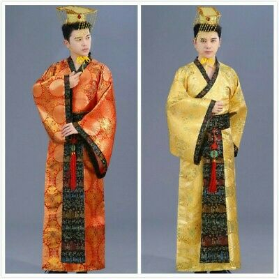 Mens Ancient Hanfu Costume Chinese Tang Emperor Performance Outfit Cosplay • 29.55£
