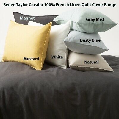 $ CDN150.65 • Buy Renee Taylor Cavallo 100% French Linen Quilt Cover Set- 9-Colours