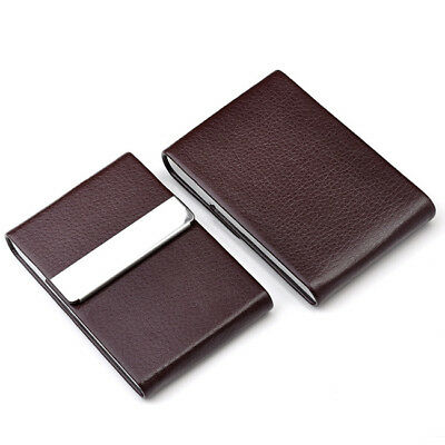 Vogue Stainless Steel Pocket Business Name Credit ID Card Case Box Holder Coffee • 6.96£