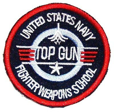 £3.70 • Buy EMBROIDERED MAVERICK TOP GUN PATCH Iron On Cloth 80's US Film Collectors Badge