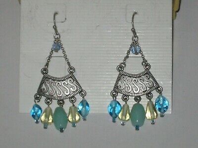 $ CDN11.41 • Buy Lia Sophia SUNDOWN EARRINGS - BLUE, GREEN & YELLOW -RV $28