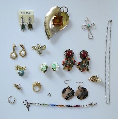 $ CDN39.11 • Buy LOT Retro Costume Jewelry Designer Signed Sterling Silver Faux Pearls