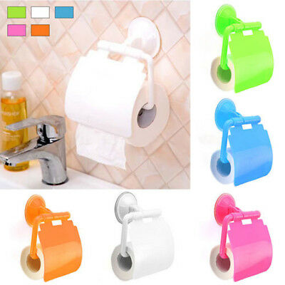 AU9.72 • Buy 2X Bathroom Wall Mounted Plastic Suction Cup Toilet Paper Roll Holder #HID