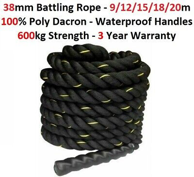 AU97.95 • Buy 9M 15M Home Gym Battle Rope Battling Strength Training Exercise Fitness