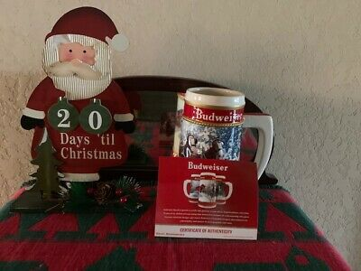 $ CDN53.56 • Buy 2019 Budweiser Holiday Stein  WINTER PASSAGE  FATHER'S DAY SPECIAL